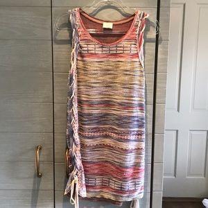 Zara knit mini dress with side lacing sz M